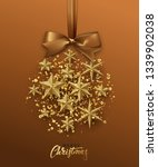 christmas golden ball made of... | Shutterstock . vector #1339902038