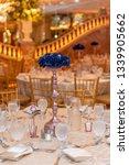 wedding banquet table setting...   Shutterstock . vector #1339905662