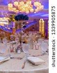 wedding banquet table setting...   Shutterstock . vector #1339905875