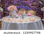wedding banquet table setting   Shutterstock . vector #1339907798