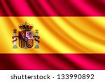waving flag of spain | Shutterstock . vector #133990892