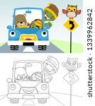 coloring book or page of funny... | Shutterstock .eps vector #1339962842