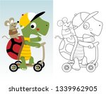 coloring book or page with... | Shutterstock .eps vector #1339962905