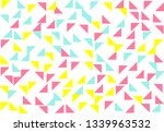 colored geometric pattern... | Shutterstock . vector #1339963532