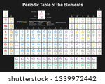 colorful periodic table of the...   Shutterstock .eps vector #1339972442
