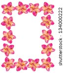 floral frame made from plumeria ... | Shutterstock .eps vector #134000222