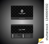 business card templates with... | Shutterstock .eps vector #1340005532