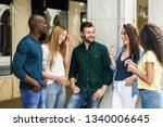 multi ethnic group of young... | Shutterstock . vector #1340006645