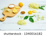 elder flower drink ingredients... | Shutterstock . vector #1340016182