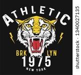 varsity athletic tiger...   Shutterstock .eps vector #1340027135