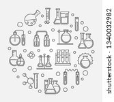 laboratory equipment and... | Shutterstock .eps vector #1340032982