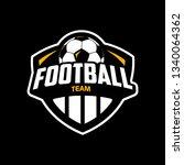 football logo design | Shutterstock .eps vector #1340064362