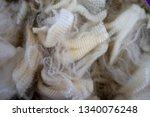 natural wool fleece from a... | Shutterstock . vector #1340076248