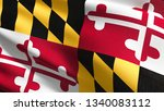 maryland state flag in the... | Shutterstock . vector #1340083112