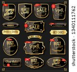golden sale labels retro... | Shutterstock .eps vector #1340111762
