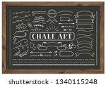 chalk art set   Shutterstock .eps vector #1340115248