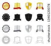 bitmap illustration of emblem... | Shutterstock . vector #1340120078