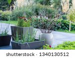 view of the landscaped classic... | Shutterstock . vector #1340130512