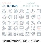 set of line icons  sign and... | Shutterstock . vector #1340140805