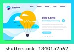 creative idea concept with text ... | Shutterstock .eps vector #1340152562