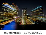 motion blur of city at night... | Shutterstock . vector #1340164622