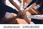 business people join hand...   Shutterstock . vector #1340181002