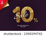 shine golden sale 10  off  made ... | Shutterstock .eps vector #1340194742