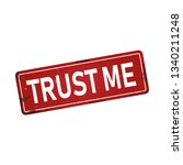 trust me dirty rusty metal icon ... | Shutterstock .eps vector #1340211248