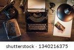 Vintage Journalist Desktop With ...