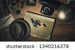 noir 1950s style detective... | Shutterstock . vector #1340216378