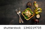 mushrooms in sour cream sauce... | Shutterstock . vector #1340219735