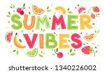 summer vibes juicy vector...   Shutterstock .eps vector #1340226002
