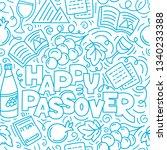 passover seamless pattern ... | Shutterstock .eps vector #1340233388