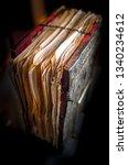 ancient medieval manuscript. an ... | Shutterstock . vector #1340234612