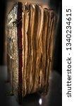 ancient medieval manuscript. an ... | Shutterstock . vector #1340234615