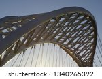 detail of a modern white metal... | Shutterstock . vector #1340265392
