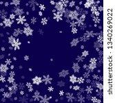 winter snowflakes border trendy ... | Shutterstock .eps vector #1340269022