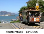 cable car and alcatraz | Shutterstock . vector #1340305