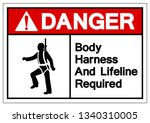 danger body harness and... | Shutterstock .eps vector #1340310005