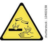 vector. corrosive sign   Shutterstock .eps vector #13403158