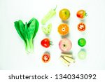 fruits and vegetables contain... | Shutterstock . vector #1340343092
