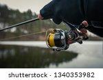 fishing background. fisherman... | Shutterstock . vector #1340353982