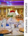 wedding banquet table    Shutterstock . vector #1340356655