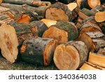 cut wood for firewood | Shutterstock . vector #1340364038