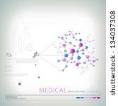 medical infographic elements | Shutterstock .eps vector #134037308