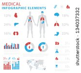 medical infographic elements | Shutterstock .eps vector #134037332