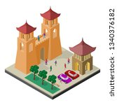 cityscape in isometric view.... | Shutterstock .eps vector #1340376182