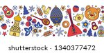 russia colored icons seamless... | Shutterstock .eps vector #1340377472