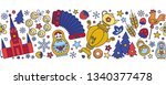 russia colored icons seamless... | Shutterstock .eps vector #1340377478