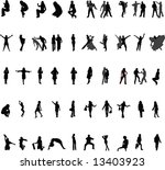 silhouettes of people | Shutterstock .eps vector #13403923